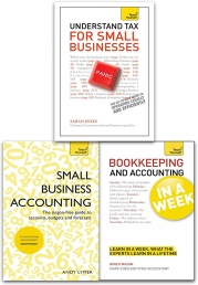 Teach Yourself Bookkeeping & Accounting for Small Business  in a Week 3 Books Set by Sarah Deeks, Andy Lymer, Roger Mason