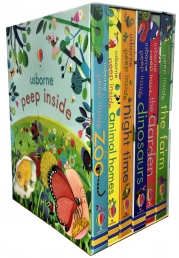 Usborne Peep Inside Collection 6 Books Box Set Children Gift Set Photo