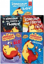 The Dinosaurs That Pooped Collection 5 Books Set  (The Dinosaur That Pooped A Lot, The Past, Christmas, A Planet, The Bed) by Tom Fletcher & Dougie Poynter