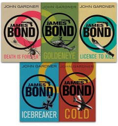 John Gardner James Bond 5 Books Collection Pack Set Photo