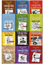 Diary of a Wimpy Kid Collection 12 Books Set Photo
