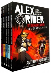 Alex Rider Collection 5 Graphics Books Set By Anthony Horowitz Photo
