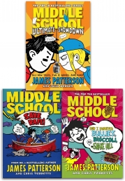 James Patterson Middle School Collection 3 Books Set (Middle School Save Rafe, Ultimate Showdown, How I Survived Bullies Broccoli Shake Hill) Photo