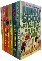 James Patterson Middle School 6 Books Collection Set Photo