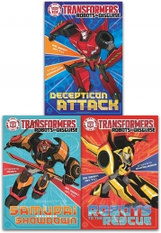Transformers Robots in Disguise Collection John Sazakli 3 Books Set As Seen on TV Photo