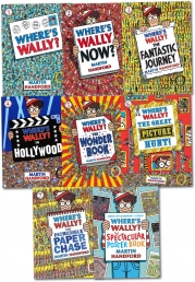 Where's Wally Collection 8 Book Set (Wheres Wally, Wheres Wally in Hollywood, Wheres Wally Now, The Great Picture Hunt, The Fantastic Journey..Etc) by Martin Handfords