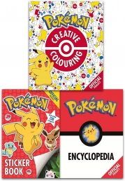 The Official Pokemon Activity 3 Books Collection Set (Pokemon Encyclopedia, Pokemon Creative Colouring, Pokemon Sticker Book) by Pokemon