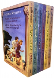 The Roman Mysteries Collection Caroline Lawrence 6 Books Box Set Photo