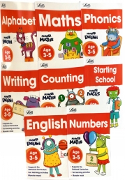 Letts Monster Practice: Ages 3-5 Collection 8 Books Set (English, Phonics, Maths, Alphabet, Writing, Number, Counting, Starting School) by Letts Monster Practice