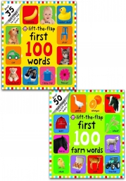 First 100 Lift-the Flap Collection 2 Board Books Set (First 100 Words, First 100 Farm Words) Photo