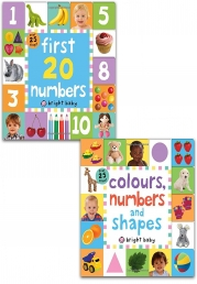 Lift-the-Flap Tab Books Collection 2 Books Set (Preschool Skills, Early Learning) (Colours, Numbers and Shapes, First 20 Numbers) Photo