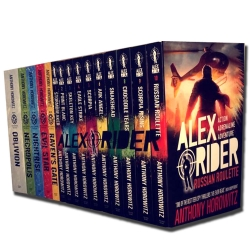 Anthony Horowitz 15 Books Collection Alex Rider & Power of Five Series Set Pack, Anthony Horowitz books Photo