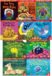 The Crunching Munching Caterpillar and Other Stories Collection 10 Books & CDs Set Photo