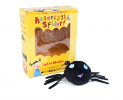 Aaaarrgghh, Spider Book and Plush Toy Set (Book & Toy) by Lydia Monks illustrator of What the Ladybird Heard Photo