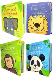 Usborne Thats Not My Animals Collection 4 Books Set ( Thats Not My Lion, Elephant, Panda, Monkey) by Fiona Watt, Rachel Wells