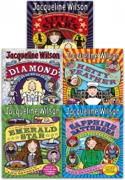 Jacqueline Wilson Hetty Feather Series Collection 5 Books Set (Little Stars, Sapphire Battersea, Diamond, Hetty Feather, Emerald Star) Photo