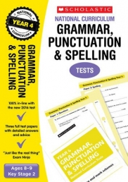 Grammar, Punctuation and Spelling Test Year 4: Ages 8-9, Key Stage 2 (National Curriculum SATs Tests) by Catherine Casey Photo