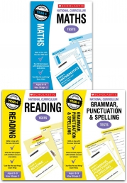 National Curriculum SATs Tests: Years 4 Age 8-9 Key Stage 2 Pack of 3 (Maths, Grammar Punctuation & Spelling, Reading) Photo