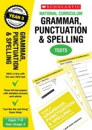 Grammar, Punctuation and Spelling Test Year 3: Ages 7-8, Key Stage 2 (National Curriculum SATs Tests) by Catherine Casey Photo