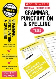 Grammar, Punctuation and Spelling Test Year 5: Ages 9-10, Key Stage 2 (National Curriculum SATs Tests) by Lesley Fletcher, Graham Fletcher Photo