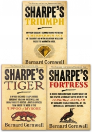 Bernard Cornwell The Sharpe Series 3 Books Collection Set  Sharpe Tiger Sharpe Triumph Sharpe Fortress by Bernard Cornwell
