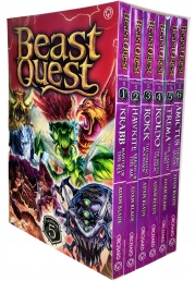 Beast Quest Series 5 The Shade of Death 6 Books Collection Box Set Books 25 to 30 by Adam Blade Photo