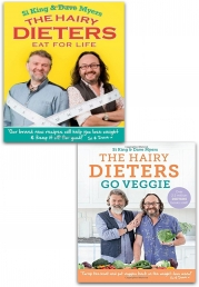 The Hairy Bikers Collection 2 Books Set (The Hairy Dieters Eat for Life, The Hairy Dieters Go Veggie) Photo