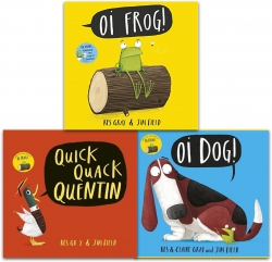 Kes Gray Collection 3 Books Set (Oi Frog, Oi Dog, Quick Quack Quentin) Photo