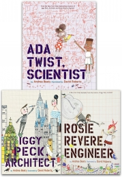 Andrea Beaty Collection 3 Books Set Ada Twist Scientist Rosie Revere Engineer Iggy Peck Architect Photo