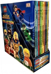 LEGO DC Comics Super Heroes Collection 10 Books with Minifigure Gift Set Pack Photo