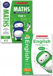 National Curriculum Practice Books for Years 3, Age 7-8, KS 2 English, Maths (100 Practice Activities) Photo