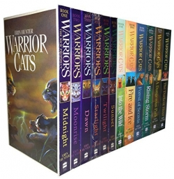 Warrior Cats Series 1 and 2 - The Prophecies Begin and The New Prophecy by Erin Hunter 12 Books Set Photo