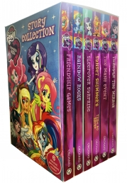 My Little Pony Story Collection Equestria Girls 6 Books Box Set by Perdita Finn Photo