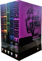 Judge Dredd: Complete Case Files Volume 1-5 Collection 5 Books Set (Series 1) By John Wagner Photo