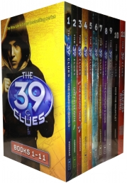 The 39 Clues Series 1 - 11 Books Collection Box Set Pack plus 66 Digital Game Cards by Rick Riordan Photo