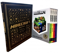 Minecraft Guide Collection 5 Books Set Pack Minecraft Annual 2017 by Mojang