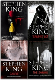 Stephen Kings 4 Books Collection Set (Stephen King�s IT, The Shining, Carrie, Salems Lot) Photo