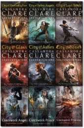 Cassandra Clare Mortal Instruments and Infernal Devices Collection 9 Books Set Photo