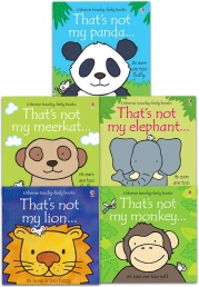Usborne Touchy-Feely Books Thats Not My Zoo Collection 5 Books Set Photo