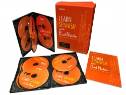 Learn Spanish with Paul Noble Collins 12 CDs, Book Photo