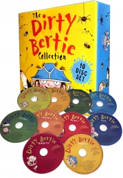 The Dirty Bertie Audio Collection 10 CDs Box Set Pack By David Roberts and Alan Macdonald Photo