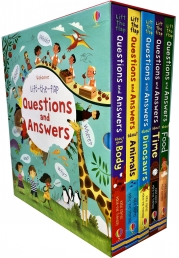 Usborne Lift-the-flap Questions and Answers 5 Books Collection Box Set Photo