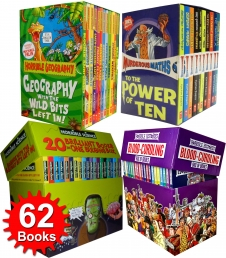 Horrible Collection 62 Books Box Set (Horrible Geography, Horrible Histories, Horrible Science and Murderous Maths) Photo