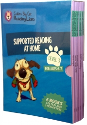 Big Cat Reading Lions Level 3: Supported Reading at Home 6 Books Collection Box Set by Collins UK