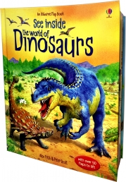 See Inside: The World of Dinosaurs (Usborne Flap Books) (Usborne See Inside) Photo