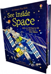 See Inside Space (Usborne Flap Books) (Usborne See Inside) by Katie Daynes  (Author),‎ Peter Allen (Illustrator)