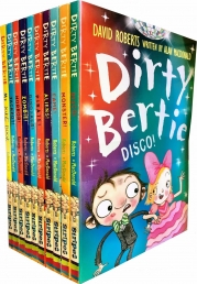 Dirty Bertie - Series 3 -David Roberts 10 Books Collection Set (My Joke Book, Disco, Monster, Fame, Aliens, Pirate, Dinosaur, Zombie, Horror, Jackpot) Photo