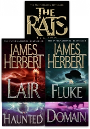 James Herbert Collection 5 Books Set (Domain, Lair, The Rats, Hunted, Fluke) Photo