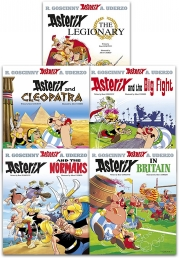 Asterix Series 2 Collection 5 Books Set (Book 6-10) (Cleopatra, the Big Fight, Asterix in Britain, the Normans, Asterix The Legionary) Photo
