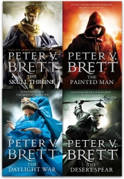 The Demon Cycle Series Peter V. Brett Collection 4 Books Set Photo